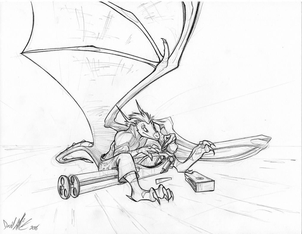 Gatling Gears Dragon by Dreamkeepers