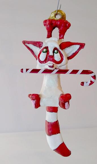 Skitters Christmas Raccoon by Dreamkeepers