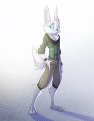 Arctic Foxhare OC by Dreamkeepers