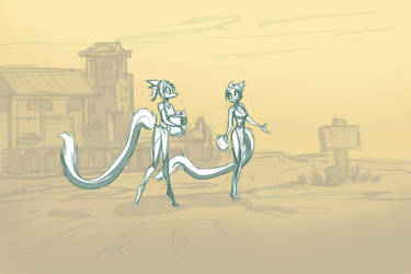 Indigo Stroll Sketch by Dreamkeepers