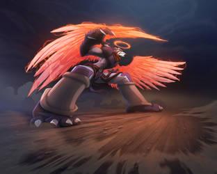 Igrath Skirmish Card Flip Art by Dreamkeepers