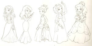 Disney Princesses by phoenix1784