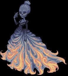Skeletal Mistress by phoenix1784