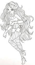 Christmas Elf Sketch by phoenix1784