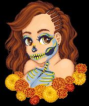 Sugar Skulls and Marigolds by phoenix1784