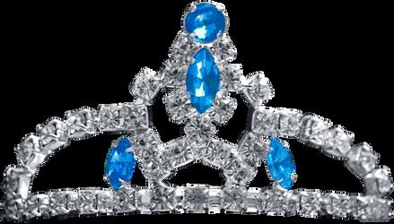 Silver Tiara - Blue Topaz