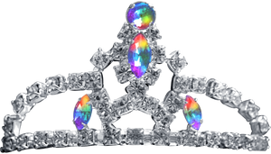 Silver Tiara - Rainbow Jewel by Dori-Stock