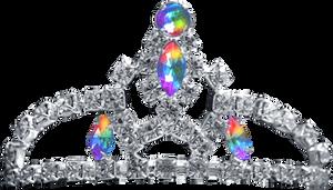 Silver Tiara - Rainbow Jewel by Dori-Stock