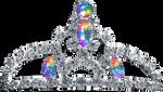 Silver Tiara - Rainbow Jewel