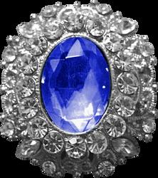 Silver Pendant - Sapphire
