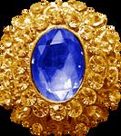 Gold Pendant - Sapphire