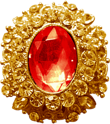 Gold Pendant - Ruby