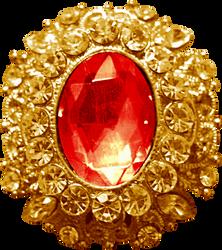 Gold Pendant - Ruby