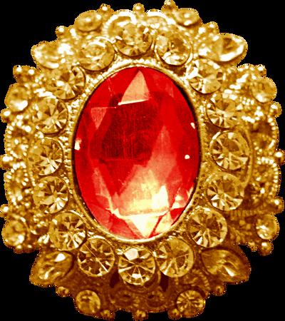 Gold Pendant - Ruby by Dori-Stock