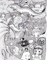 Ghibli Collage by janelleLOVESudon