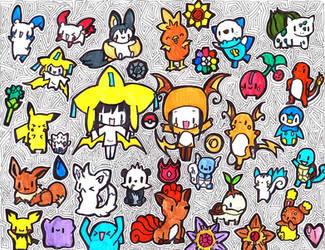 Chibi Pokemon Collage by janelleLOVESudon