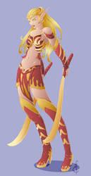 Blood Elf Fighter by epzilon