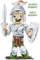 Silent Knight, Holy Knight by epzilon