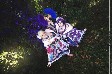 Nozomi Tojo and Eli Ayase by MimiCosplay