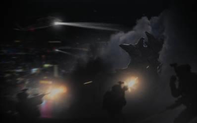 Night of the Kaiju by FabioMk