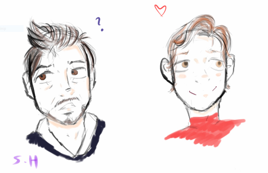 Tony and Peter~ by Tokyoflower