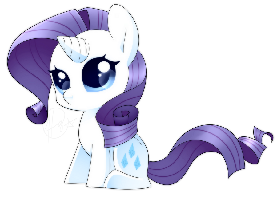 MLP - Chibi Rarity by haydee on DeviantArt