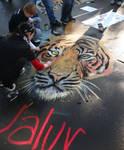 Tiger chalk painting