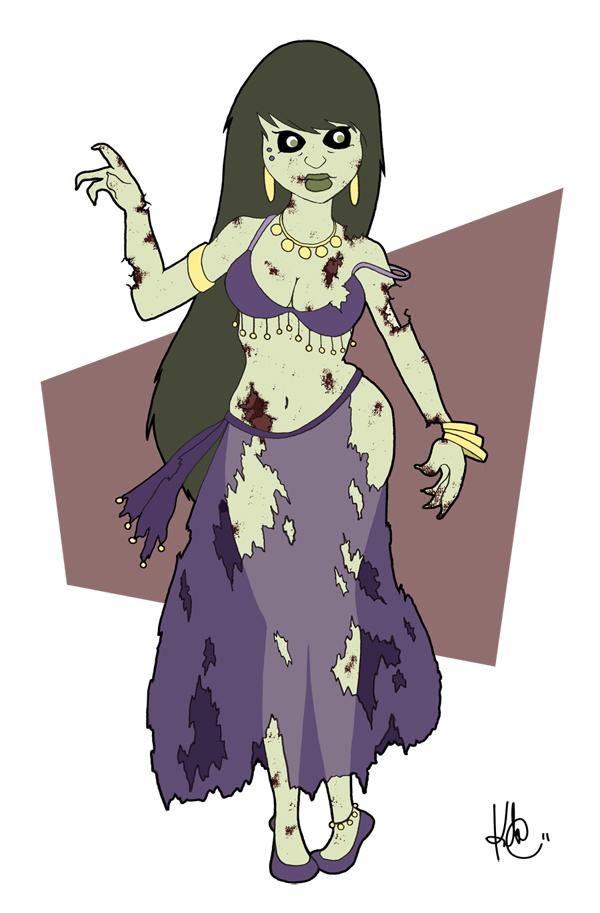 Pin-Up Zombie Bellydancer