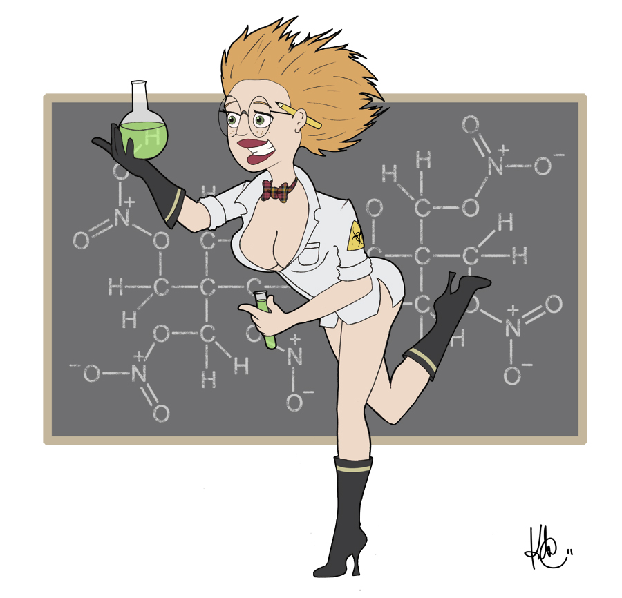 Pin-Up Mad Scientist