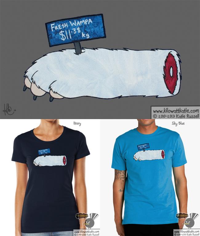 Wampa Steak - Star Wars T-Shirt by KilowattKatie