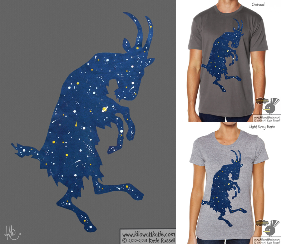 Space Billy T-Shirt by KilowattKatie