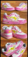 Peach Bapesta Kicks
