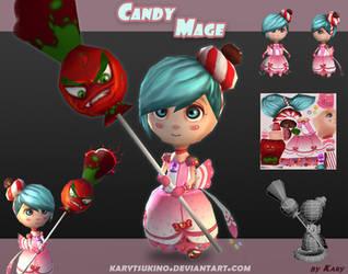 Chibi Candy Mage by karytsukino