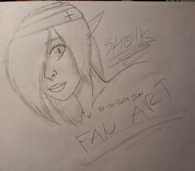 Sheik - tloz Oot (Sketch Fan Art)