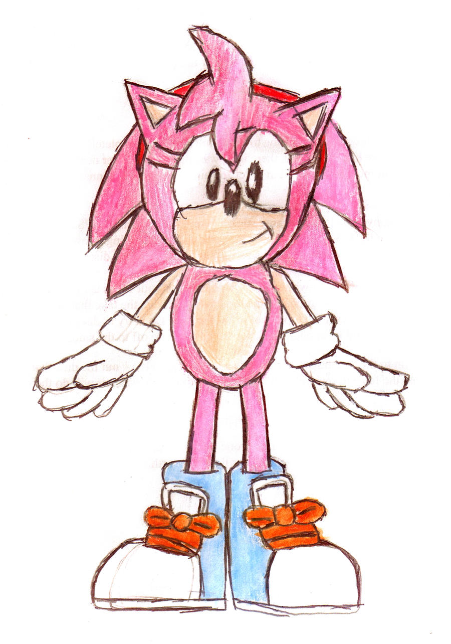 Classic Amy Rose, nude by YoshiAngemon