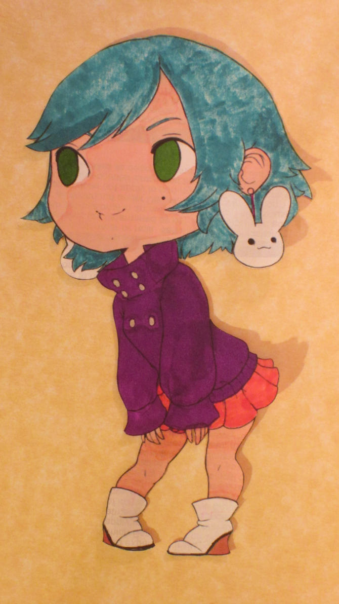Little Chibi Bunny by Mr-Pink-Rose