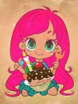 Birthday Cupcake Girl by Mr-Pink-Rose