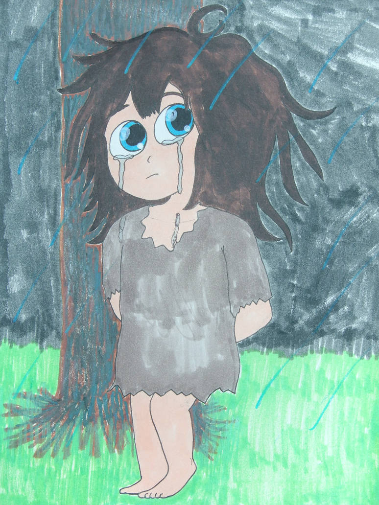 Turquoise Eyes Crying In The Rain by Mr-Pink-Rose