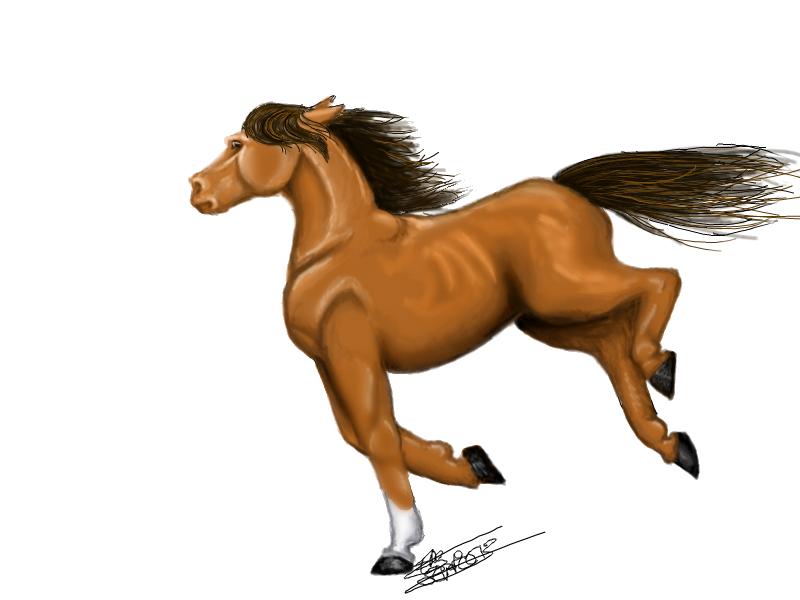 Craramel horse by Liliandril