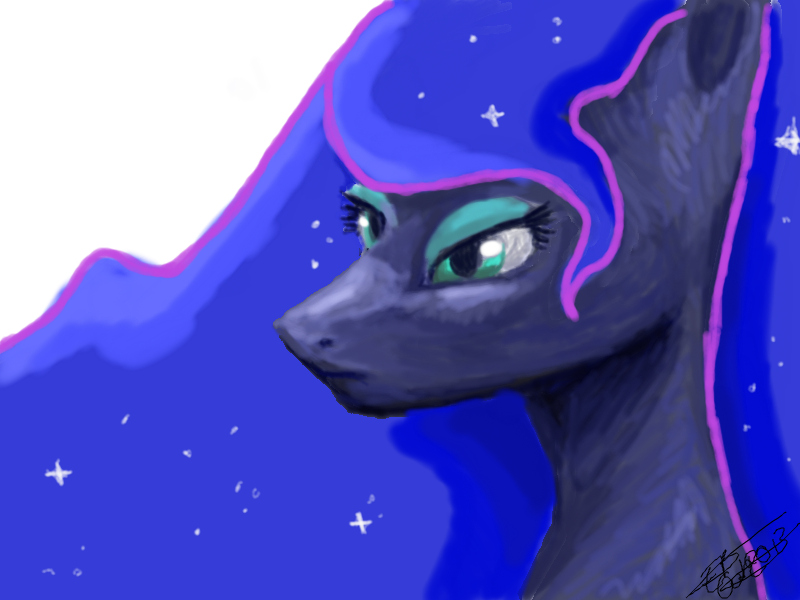 Luna, My Little Pony by Liliandril