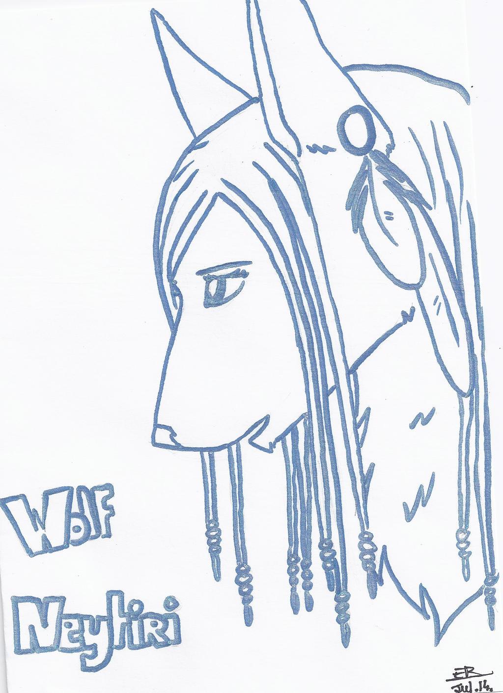 Neytiri (wolf) by Liliandril