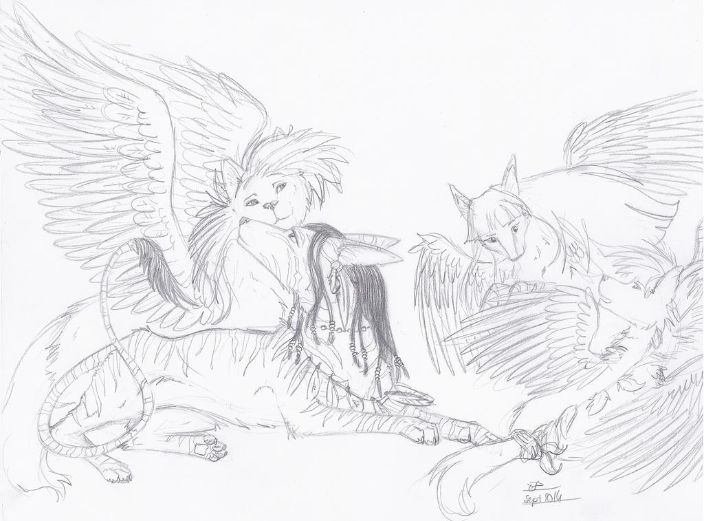 Neytiri, Scott, Endall Et Malefic by Liliandril