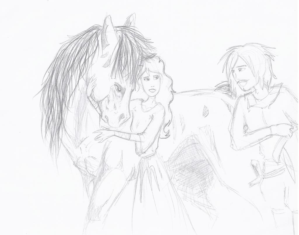 Amoureux Et Cheval ? by Liliandril