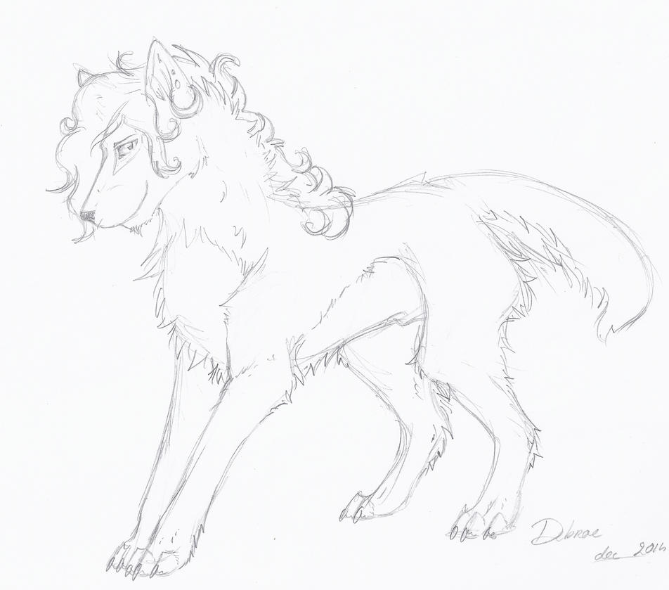 Debrae - sketch by Liliandril