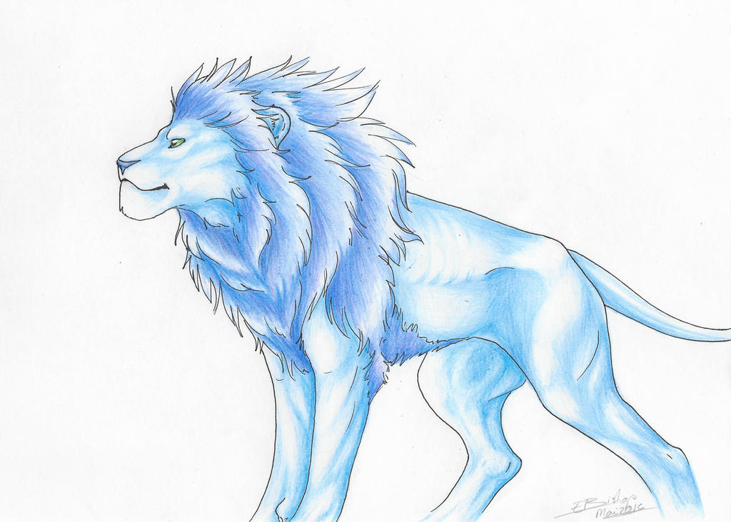 .:The blue Lion:. by Liliandril