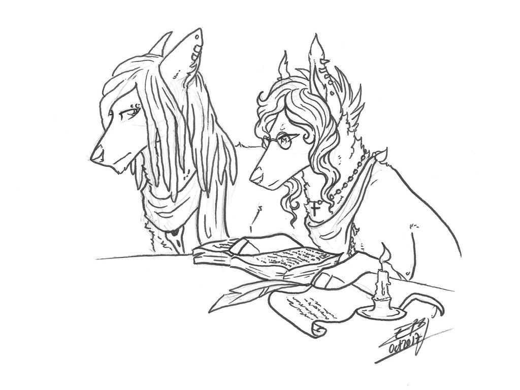 Illu RP ~ Astaroth et Brienna by Liliandril