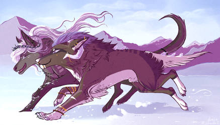 Snow race | Collab by Liliandril