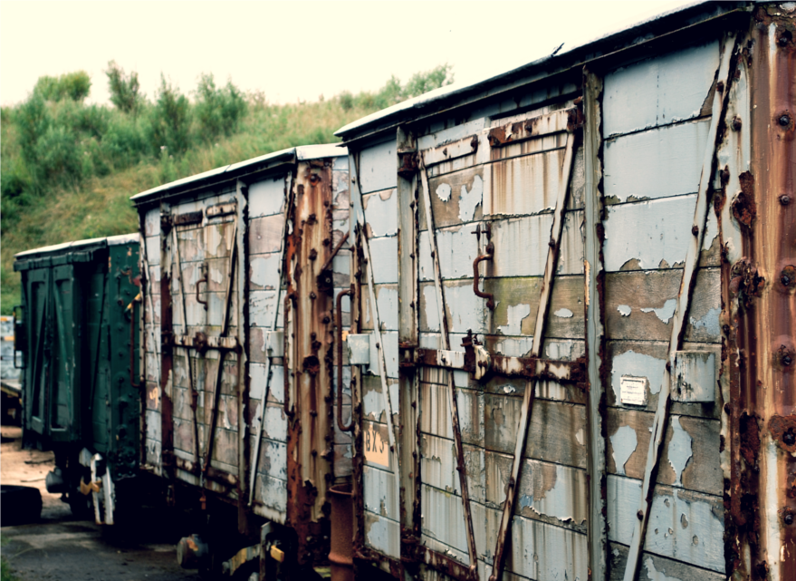 Abandoned Railway Carriages by Mangaeyes