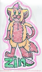 crappy crayon badge - Zin by ZinStone