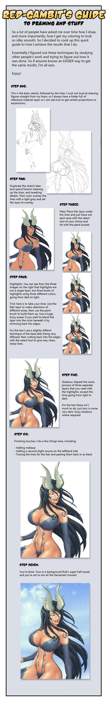 Coloring tutorial by Red-Gambit